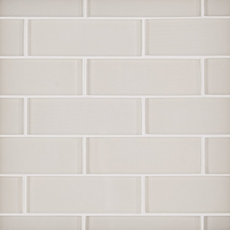 Ivory 2 x 6 in. Brick Glass Mosaic