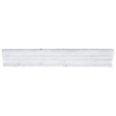 Bianco Carrara Marble Chair Rail