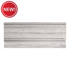 New! Valentino White Marble Base Molding