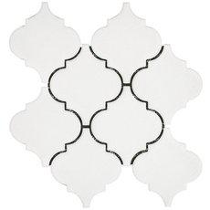 Heirloom Linen Arabesque Porcelain Mosaic