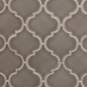 Villa Heirloom Pewter Arabesque Porcelain Mosaic