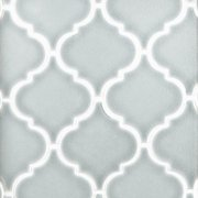 Heirloom Aqua Arabesque Porcelain Mosaic