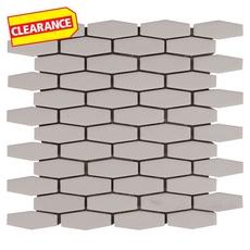 Clearance! Linen Elongated Hexagon Porcelain Mosaic