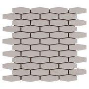 Linen Elongated Hexagon Porcelain Mosaic