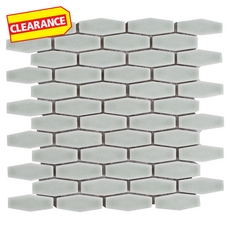 Clearance! Willow Elongated Hexagon Porcelain Mosaic