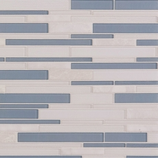 Montage Biscayne Linear Polished Glass Mosaic