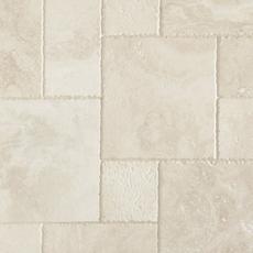 Cascade White Brushed Travertine Tile