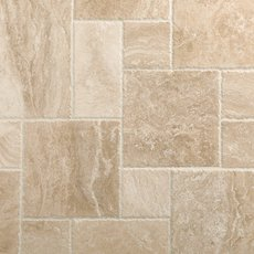 Cascade Cream Brushed Chiseled Travertine Tile