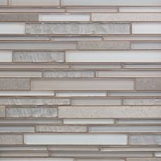 Sea Cove Linear Glass and Stone Mosaic