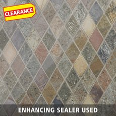 Clearance! Peacock Diamond Mix Slate Mosaic