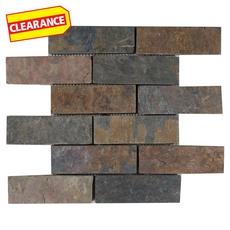Clearance! Peacock Brick Slate Mosaic