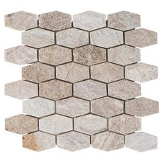 Olympic Beige Hexagon Quartz Mosaic
