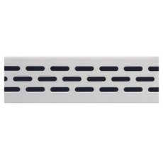 Compotite 24in. Oval Design Stainless Steel Linear Drain Grate