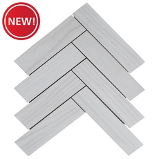 New! Helsinki White Wood Plank Porcelain Mosaic