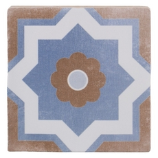 Barcelona Blue and Taupe Ceramic Tile