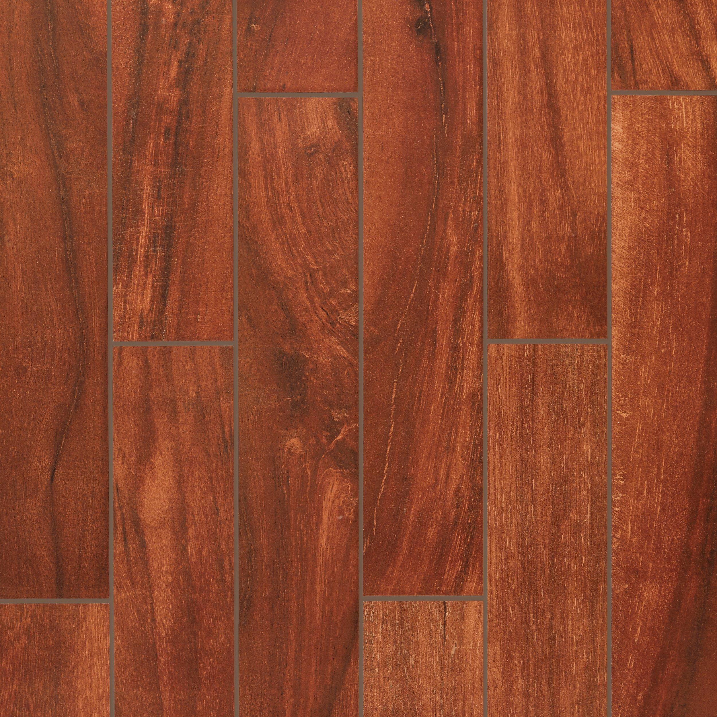Porcelain Tile Wood Plank: Moritz Walnut Wood Plank Porcelain Tile