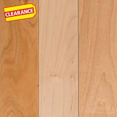 Clearance! Natural Maple Smooth Solid Hardwood