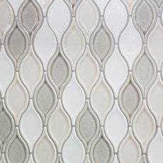 Gray Blend Tear Drop Porcelain Mosaic