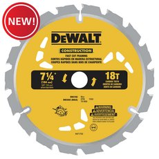 New! DeWalt 7-1/4 in. 18T Thin Kerf Saw Blade