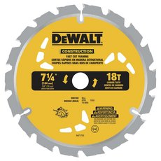 DeWalt 7-1/4 in. 18T Thin Kerf Saw Blade