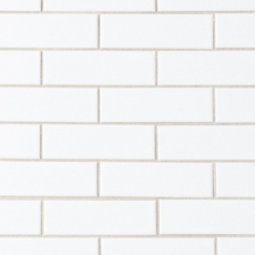 White Brick Ceramic Mosaic