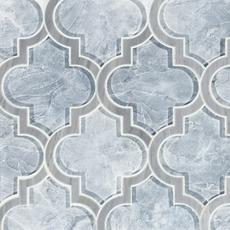 Vogue Arabesque Water Jet Cut Glass Mosaic