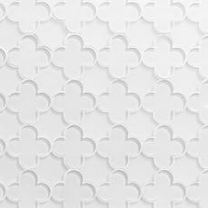 White Quatrefoil Glass Mosaic