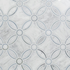 Carrara Calista Water Jet Cut Marble Mosaic
