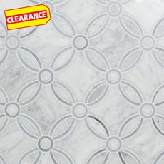 Clearance! Carrara Calista Waterjet Marble Mosaic