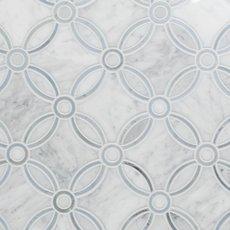 Carrara Calista Waterjet Marble Mosaic