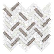 Sandhill Herringbone Glass Mosaic