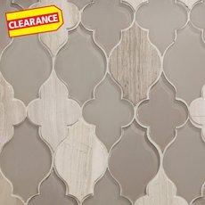 Clearance! Paloma Lantern Waterjet Glass Mosaic