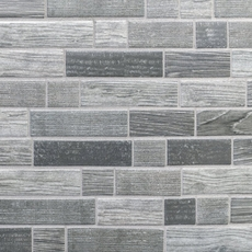Silver Willow Linear Recycled Glass Mosaic