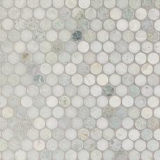 Maravilla Caribbean Green Penny Polished Marble Mosaic