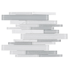 Clarity Stone Blend Polished Linear Mosaic