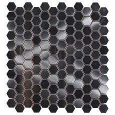 Montage Stainless Steel Hexagon Brushed Metal Mosaic