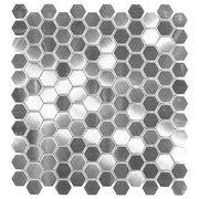 Stainless Steel Hexagon Brushed Metal Mosaic