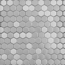 Stainless Steel Hexagon Brushed Metal Mosaic