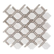 Valentino Lattice Waterjet Marble Mosaic