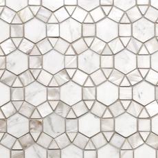 Circulos Waterjet Mother of Pearl Marble Mosaic