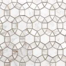 Circulos Waterjet Mother of Pearl Marble Mosaic