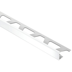 Schluter JOLLY Bright White 5/16in. PVC 8 ft. 2-1/2 in. Tile Edging Trim