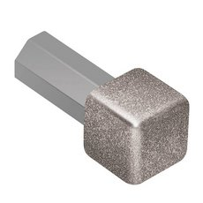 Schluter QUADEC Aluminum Stone Gray 3/8in. Inside/Outside Corner