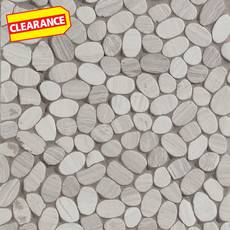 Clearance! Valentino White Flat Pebble Mosaic