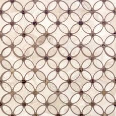 Crema Royal Flower Polished Marble Mosaic