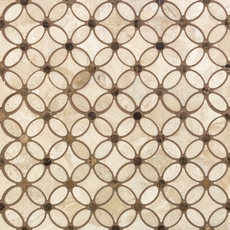 Viviano Marmo Impero Reale Flower Polished Marble Mosaic