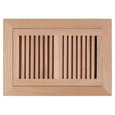 Red Oak Flush Mount Unfinished Floor Register
