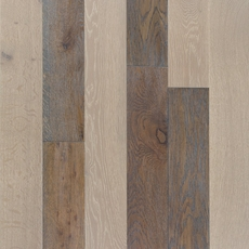 Mixed Gray Oak Hand Scraped Wire Brushed Solid Hardwood