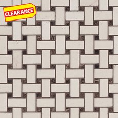Clearance! Serene Ivory Basket Limestone Mosaic