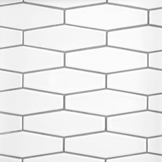 White Hexagon White Body Ceramic Tile